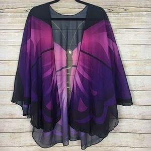 Accessories - Purple Butterfly Shawl OSFM